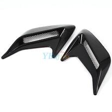 2x Car Auto Decorative Air Scoop Flow Intake Hood Vent Bonnet Universal Black DH