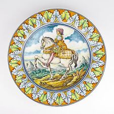 Spanish Pottery Decorative Wall Plate Varas Talavera Hand Painted Made in Spain