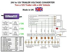 24V to 12V DC-DC TRUCK / TRAILER VOLTAGE CONVERTER, 24v-12v, Model E805