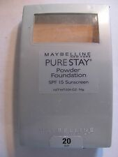 (1)Maybelline Pure Stay Powder Foundation #20-BUFF  Sealed Compact