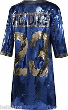 NWT~Adidas Originals JEREMY SCOTT SEQUIN FOOTBALL JERSEY Shirt DRESS~Womens sz M