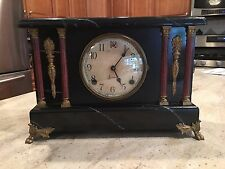 Working Antique Sessions Shelf Mantle 8 Day Clock