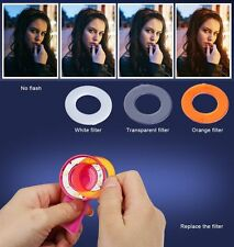 UNIQUE Selfie Fill Light Round Ring Spotlight Clip Phone Flash LED flash