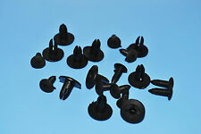 10 X SKODA FABIA BLACK PLASTIC RIVETS CLIPS FITTING TRIM PANELS
