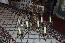 Antique Victorian Spanish Chandelier-10 Lights-Brass-Intricate Design-LQQK