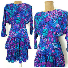Kay Unger Dress Size XSmall Silk Tiered Ruffle Cocktail Party Floral Formal