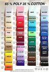 """Plain PolyCotton Fabric Poplin Per Metre 30 colours Best Quality 65/35 Blend 45"""""""