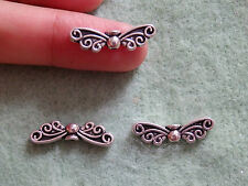 30 butterfly beads spacers tibetan tibet silver antique vintage  wholesale -20mm