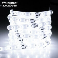 5M 300Leds 5630 SMD Cool White Waterproof Led Strip Lights Lamp Ultra Bright 12V