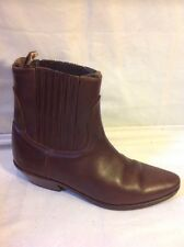 Diesel Brown Ankle Leather Boots Size 37
