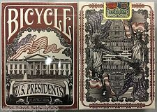 US Presidents Republican Red Deck Bicycle Playing Cards Poker Size USPCC Sealed