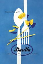 MID CENTURY 1950'S ITALIAN PASTA ADVERTISEMENT  POSTER A3 REPRINT