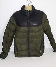 WOMENS Eddie Bauer 800 FILL DOWN PUFFER JACKET GREEN SIZE SMALL