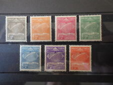 7x Timbres Stamps BRASIL BRESIL BRAZIL Airmail Condor 1927 Mi 1-7 Unused MH* 2nd