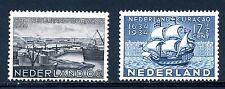 NVPH  267-268 ongestempeld met plakker