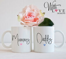 SET OF 2 MUGS PERSONALISED MUMMY DADDY MUM DAD COFFEE MUG TEA CUP PRESENT GIFT