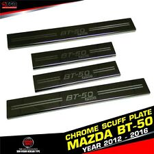 4 DOORS SCUFF PLATE SILLS STAINLESS STEEL FOR MAZDA BT-50 PRO PICKUP 2012-2016