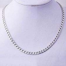 Mens Stainless Steel Curb Cuban Chain Necklace 6mm Smooth Silver Chain 20.07""