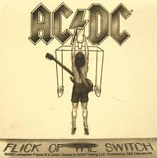 "AC/DC AUFKLEBER / STICKER # 20 ""FLICK OF THE SWITCH"" - PVC - WETTERFEST"