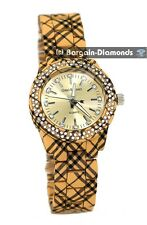 ladies butterscotch yellow clubbing party watch designer plaid print links teen