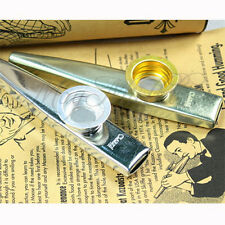 New Golden Metal Kazoo Flute Mouth Music Instrument Harmonica Practical E