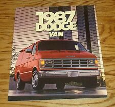 Original 1987 Dodge Van Sales Brochure 87 Ram B150 B250 B350