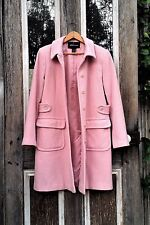 MODA INTERNATIONAL Pink GILMORE GIRLS Wool Melton Classic Pea COAT Knee Length 8