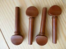 BOXWOOD VIOLIN PEGS, 4 PIECES, ENGLISH STYLE, 4/4 FULL SIZE PROF. QUALITY!