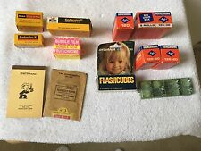 Lot of Vintage Kodak and Agfachrome film,bubblegum, and flash cubes