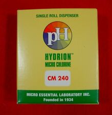 Hydrion Cm-240 Chlorine Dispenser 10-200 PPM Test Roll Plus Extra Roll Plus NIB