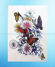 """butterfly flower 8.25""""extra large tribal temporary tattoos"""