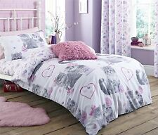 PINK PURPLE CATS JEWELLERY SINGLE COTTON BLEND REVERSIBLE DUVET COMFORTER COVER