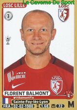 156 FLORENT BALMONT # LILLE.OSC LOSC OL STICKER PANINI FOOT 2016