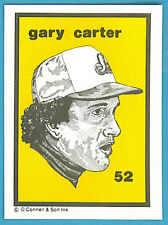 1984-1991 O'Connell & Son Ink Mini Print #52 Gary Carter (Expos)