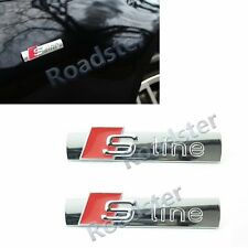 2x CHROME S-LINE SLINE REAR SPORT EMBLEM BADGE DECAL STICKER for AUDI ALL CAR