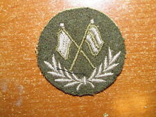Canadian Army Trade Badge Trade Level 2 Signal Trades nice 1950's Green Flags