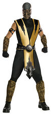 ADULTS MENS MOVIE CHARACTERS MORTAL KOMBAT SCORPION NINJAS COSTUME - ONE SIZES