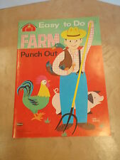 VINTAGE ORIGINAL 1963 EASY TO DO FARM PUNCH OUT BOOK    **MINT**UNUSED**