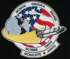 "NASA SPACE SHUTTLE CHALLENGER STS-51-L JACKET PATCH 7""X8"" HUGE!! FREE SHIPPING!!"