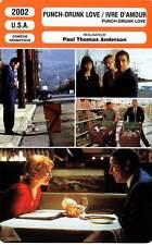 FICHE CINEMA : PUNCH DRUNK LOVE IVRE D'AMOUR - Sandler,Seymour Hoffman 2002