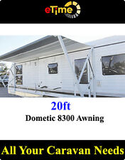 Dometic 8300 Awning 20ft,semi automatic roll-up,Granite,with short hardware