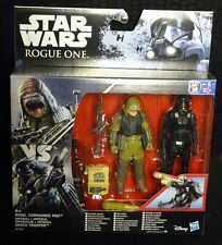 """Star Wars Rogue One REBEL COMMANDO PAO vs DEATH TROOPER New! 3.75"""" 2-Pack"""