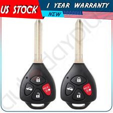 2 Replacement Ignition Car Key For Toyota Camry Keyless Entry Remote Fob - Uncut