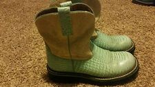 Womens Ariat Fatbaby boots size 8.5 teal light blue