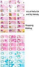 Hello Kitty My Melody Personalized Labels Stickers 96pcs Water proof NEW