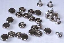 100 Hohlnieten  Nieten 6x3x5 Silber rostfrei