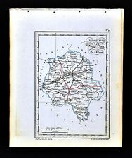 1841 Perrot France Map Department De Indre et Loire Tours Chinon Azay-le-Rideau