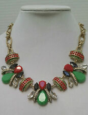 J Crew Red and Green Honeybee Necklace