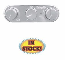 Vintage Air Streamline 3-Knob Control Panel, Horizontal Polished 491210-RUA