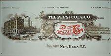 Pepsi Cola Fabrik Blech Schild 50x25cm Reklame Plakat Coke Werbung Reklame